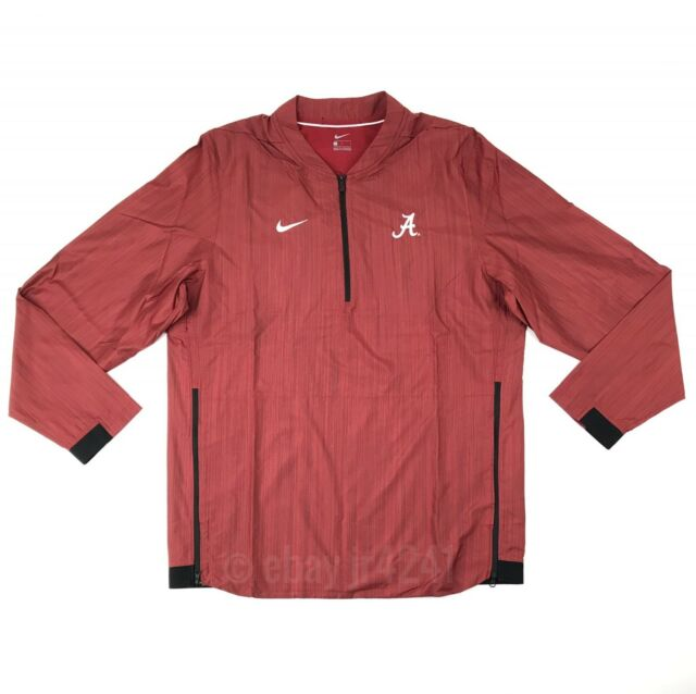 6518d594285a6 New Nike Alabama Crimson Tide Lockdown Jacket Men s Large Red 1 4 Zip  75  908417