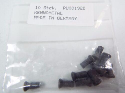 Hertel KENNAMETAL  PU00192D Insert Screws 10 PER BAG NEW