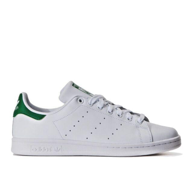 Scarpe Adidas Stan Smith M20324 Uomo Bianco/Verde Sneakers Sportive Bassa Nuovo