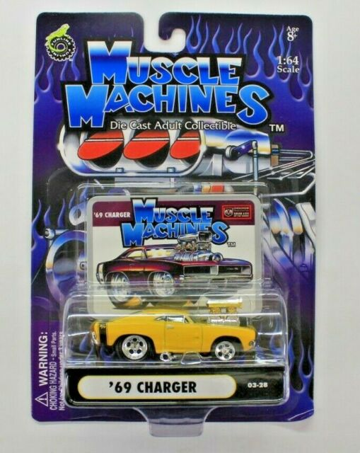 Funline Muscle Machines '69 Charger Yellow 1:64 Die-Cast
