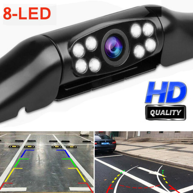 8 LED Car Parking Reverse Camera Truck Front Side Rear View Cam Night Vision