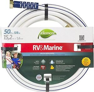 Swan Element Marine/RV Camping and Boating Water Hose 50 ft, 5/8 diameter, White