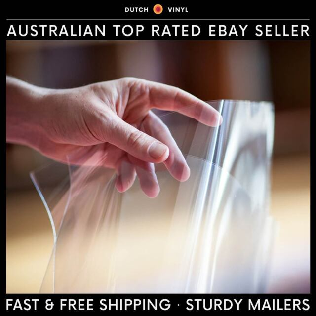 """25 x Plastic Record Outer Sleeves for Double Vinyl 12"""" LP's Blake Crystal Clear"""