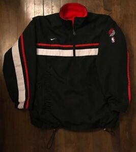 Portland-Trail-Blazers-Nike-NBA-Pullover-Reversible-Jacket-w-Fleece-Men-s-Medium