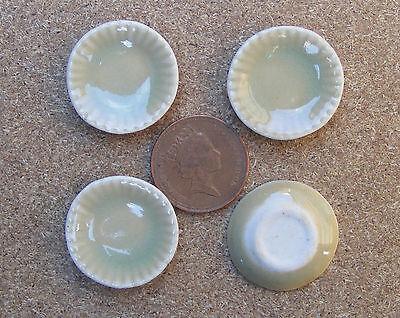 1:12 Rotondo Ocra Piatti Di Ceramica (4) Domanda Che Supera L'Offerta