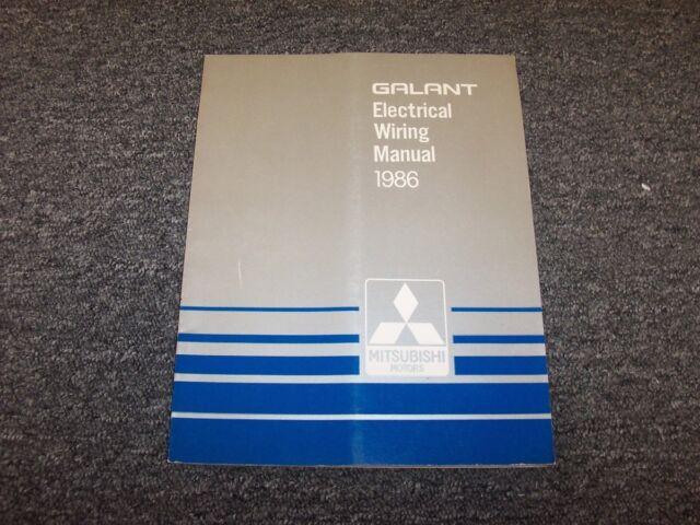 1986 Mitsubishi Galant Sedan Electrical Wiring Diagram