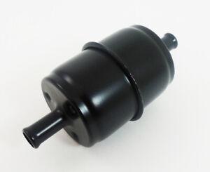 """Black Steel Disposable Fuel Filter 3/8"""" Inlet & Outlet"""
