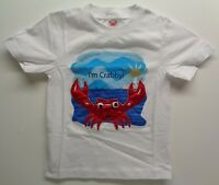 Kids Crabby Tee Size 5t I'm Crabby White Cotton T-shirt Top Babies Clothing