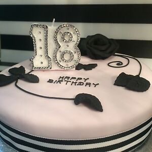 Image Is Loading Birthday Candle Amp Cake Topper Number Age 13