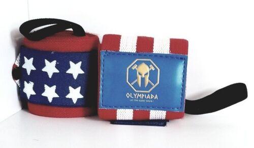 Olympiada American Flag Wrist Wraps HEAVY DUTY Support