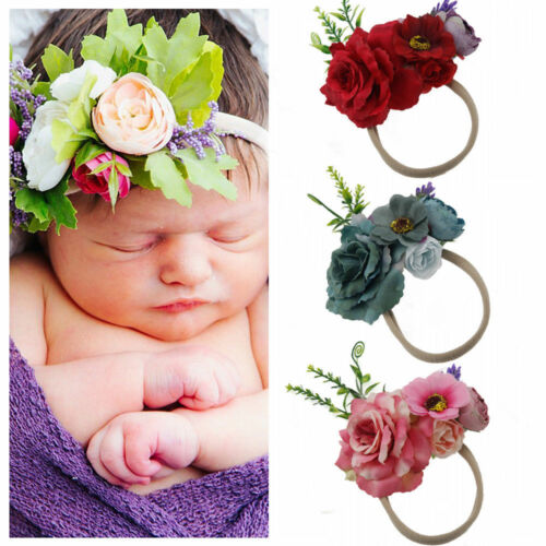 1Pc Cute Headband Kids Girl Baby Toddler Flower Hair Band Accessories Headwear