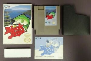 The-Black-Bass-NES-Nintendo-Game-Original-BOX-Complete-CIB-Manual-Dust-Cover