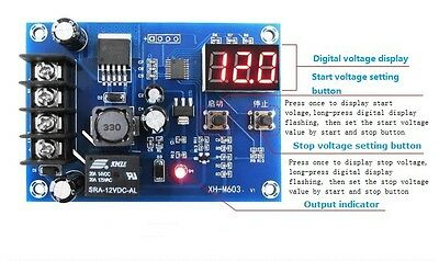 DC12V-24V Lithium Battery Charge Control PCB Protection Board /w LED Display