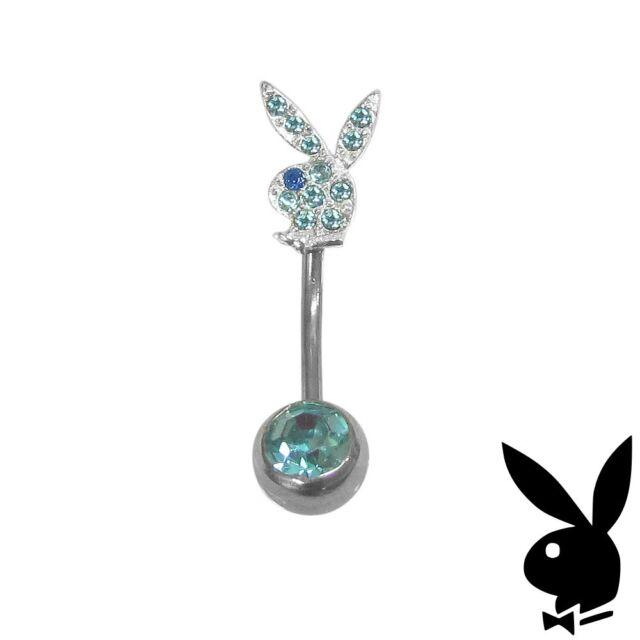 Playboy Belly Ring Bunny Crystal Body Jewelry Surgical Steel Gem CZ GRADUATION