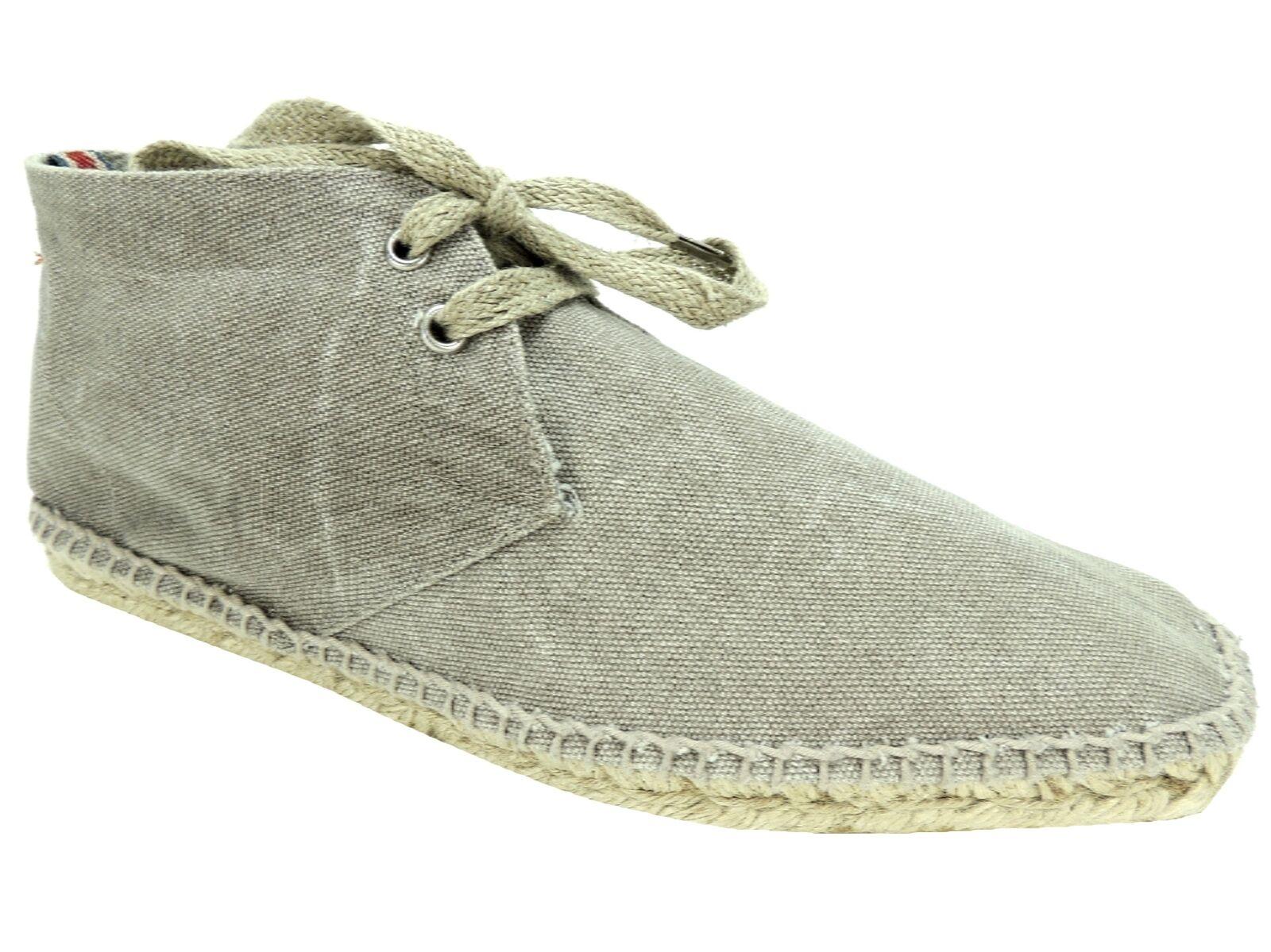 botas Desierto Castaner Para Hombre Alpargata Arena gris Lona euro nosotros tamaño 7;