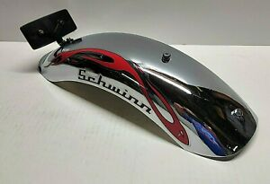 "Schwinn StingRay OCC 20"" Orange County Chopper Chrome/Red Rear Fender-Used Part"