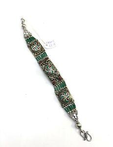 Handmade Turquoise Traditional Antique Vintage Beading Bracelet for Christmas