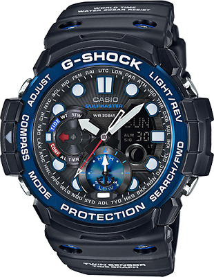 Casio Gulfmaster Master of G Men's Solar Twin Sensor 53.5mm Watch GN1000B-1A