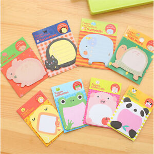 BE-2Pcs-Creative-Cute-Animals-Sticky-Notes-Memo-Pad-Planner-Stickers-Stationery