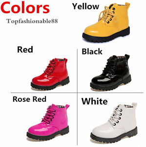 2016 Good quality Boys Martin boots Girls Toddler shoes Baby kids children Size