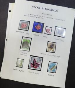 EDW1949SELL: Rocks & Minerials Bello Collezione Su Pagine. Anche Nuovo Edizioni