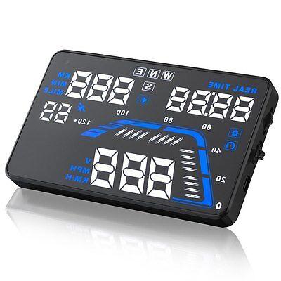 "Hot Q7 5.5"" Car GPS HUD Head Up Display Overspeed Warning Speedometer Projector"