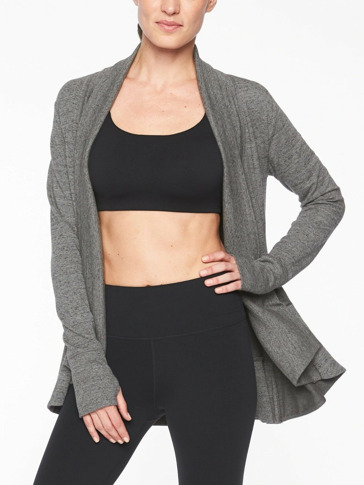 Athleta Pranayama Wrap, Charcoal Heather Heather Heather Nep SIZE L    N0208 98ca1a
