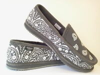 Grey Bandana Slippers House Shoes Trooper America Chicano Rap Gray