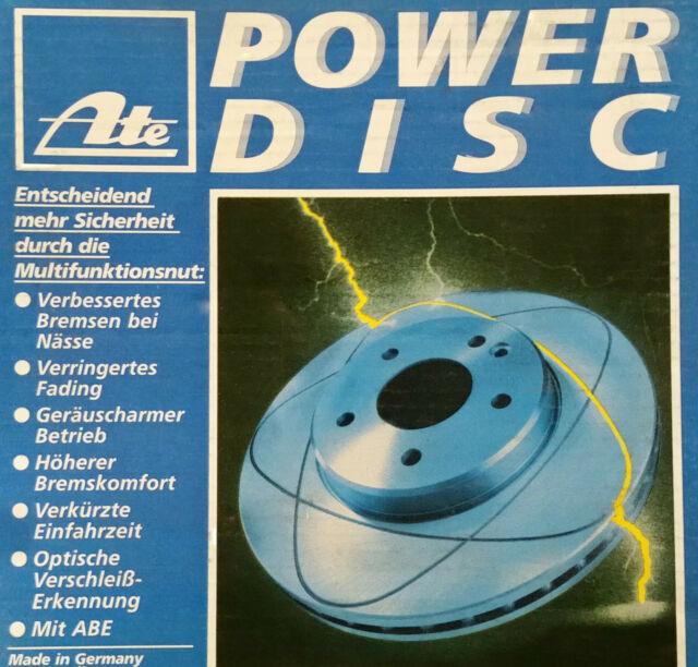 2 Piezas Ate Powerdisc Discos de Freno ⌀ 239,5 Ford Escort & Orion
