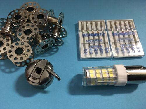 Nadel passend für fasst alle Nähmaschinen CB Spulenkapsel 10 Spule,LED Lampe
