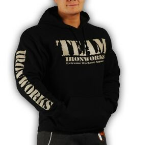 Details about MENS COTTON BLACK MILITARY BODYBUILDING CLOTHING HOODIE  WORKOUT TOP GYM FITNESS