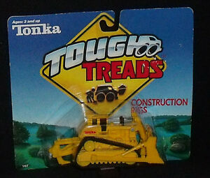 Tonka-Tough-Treads-Construction-Rigs-Bulldozer-2-034-Vtg-1989-NEW-In-Package-Dozer