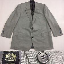 Recent 2013 Oxxford Clothes Gray Herringbone Blazer Sport Coat Jacket 46R 45R