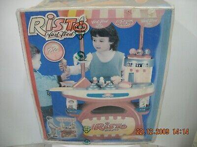 """Risto' Fast Food Con Rotelle + 16 Accessori """"grazioli"""" Anni '90"""