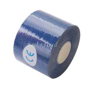 5cm-5M-Roll-Muscle-Elastic-Kinesiology-Sports-Tape-Care-Therapeutic-Dark-Blue