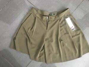 Verde da Chic Uk 12 città di Pantaloncini Pantalone Ralph Lauren seta 90 oliva taglia € awagqEXr