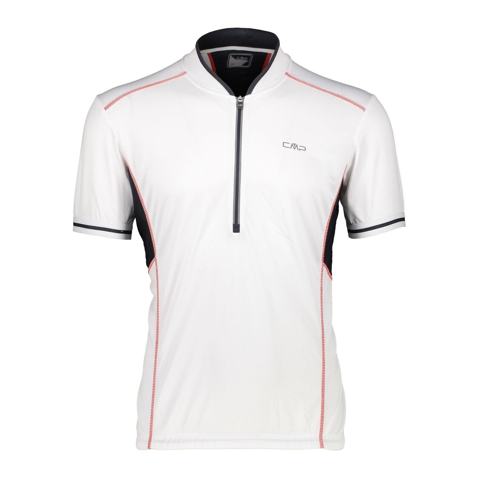 CMP Jersey Man Bicicleta Camiseta whitea Transpirable Secado Rápido