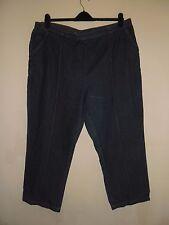 Ladies BM Jeans Cropped Crops shorts 3/4 Dark Blue Plus Size 22 Ex Con