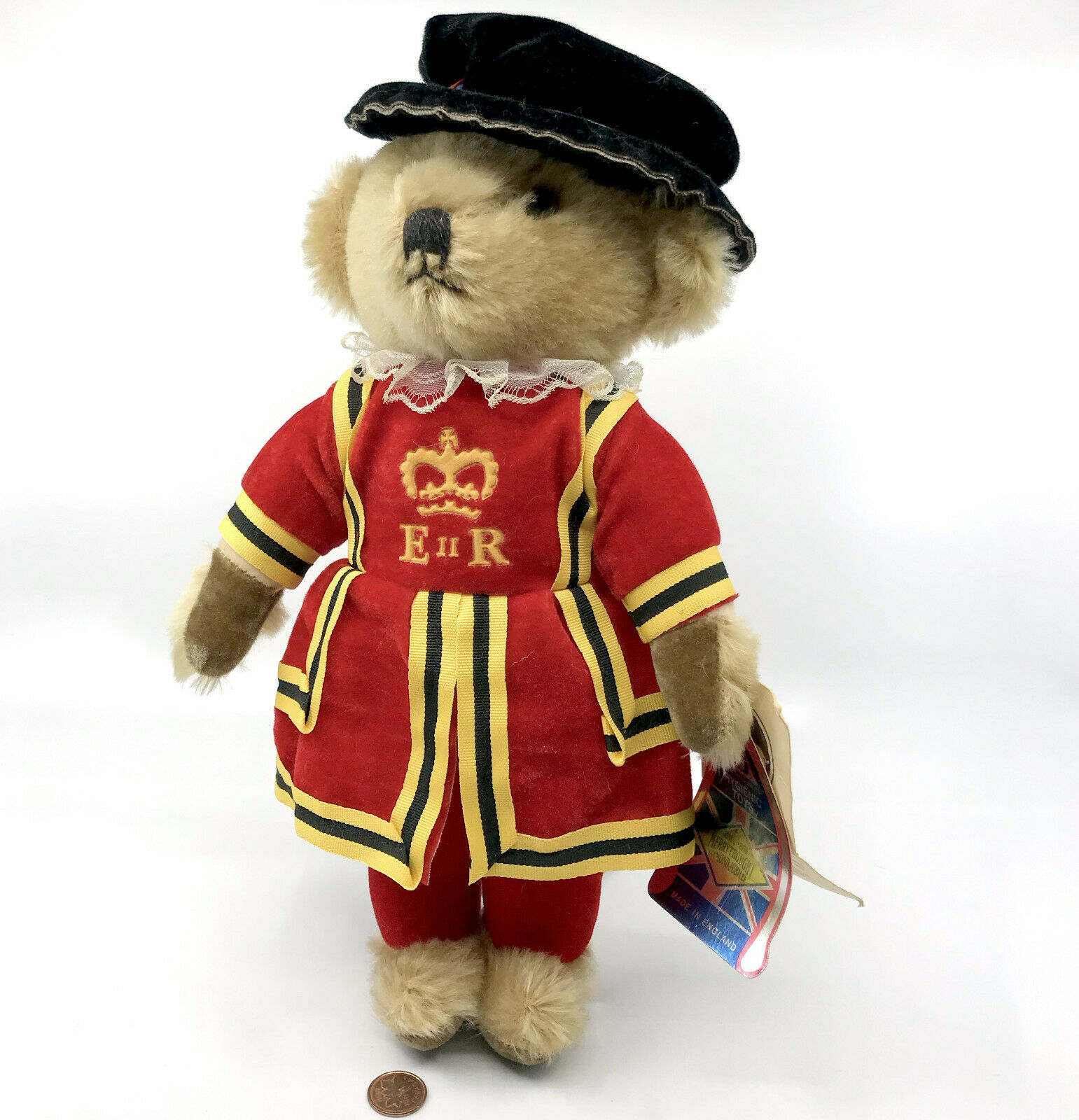 Merrythought Harrods Beefeater Teddy Bear Royal Guard Mohair Plush 12in Hang Tag
