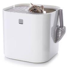 White Modkat Cat Litter Box Modern Pet Toilet
