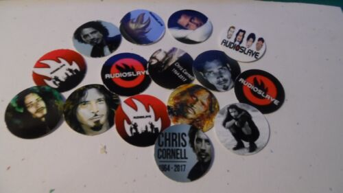 Pre Cut One Inch Bottle Cap Images AUDIOSLAVE CHRIS CORNELL Free Shipping