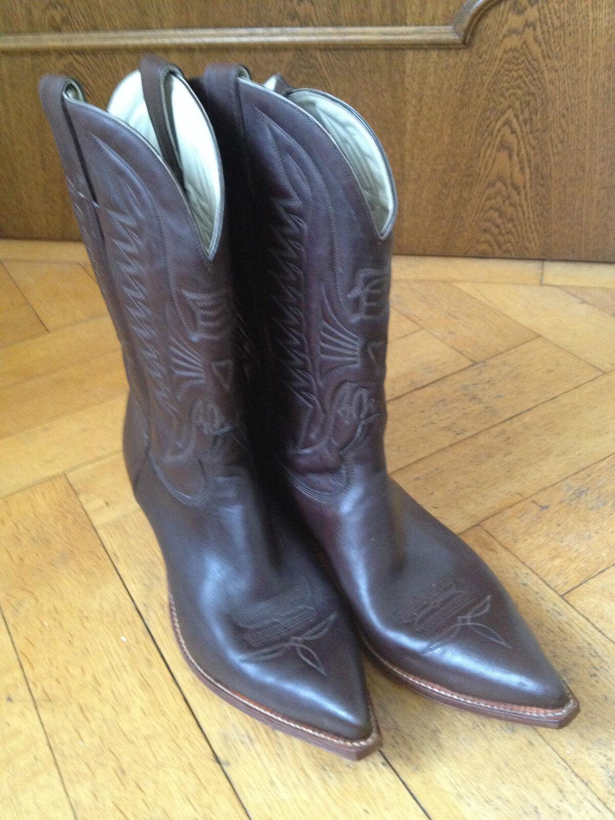 Don Quichotte Cowboy Western Bottes bottes cuir marron us 11.5 eur 45 UK 10.5