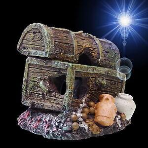 aquarium deko kleine schatzkiste schatztruhe terrarium dekoration zubeh r ebay. Black Bedroom Furniture Sets. Home Design Ideas