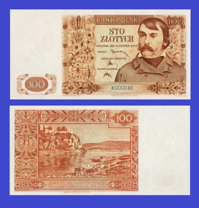 Reproduction Poland 100 zloty 1939 UNC