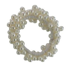 Ella-Jonte-Haargummi-Perlen-elfenbein-ivory-Scrunchie-Zopfgummi-Zopfband-neu