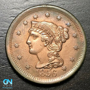 1856-Braided-Hair-Large-Cent-MAKE-US-AN-OFFER-B6233