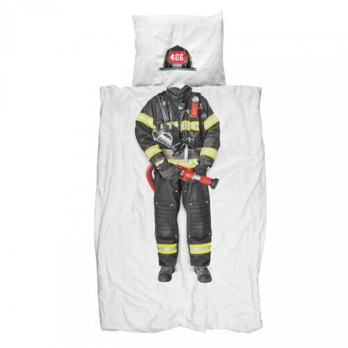 Snurk Firefighter Single Duvet Cover /& Pillowcase 200 Thread Count 100/% Cotton