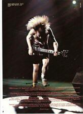 AC/DC Angus with flying hair magazine PHOTO/Poster/clipping 11x8 inches