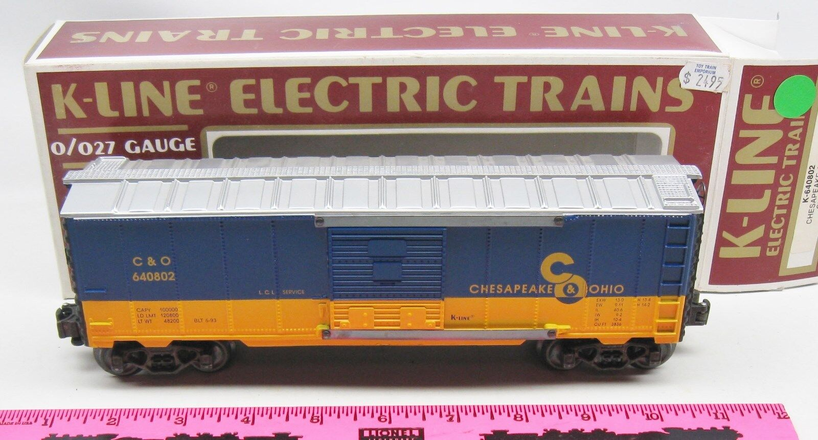K-line K-640802 Chesapeake & Ohio classic boxcar