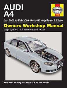 Haynes-Werkstatt-Reparaturanleitung-Audi-A4-05-08